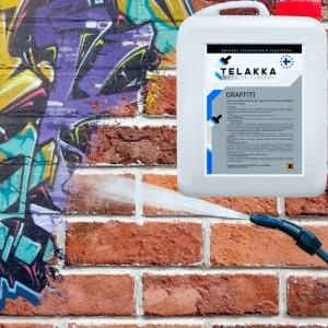 Смывка всех видов граффити от Telakka: изучаем характеристики, ищем аналоги